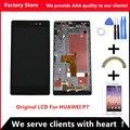 AAA Качество! оригинальный ЖК + Оригинальная Рамка Для HUAWEI P7 Жк-Экран Замена Для HUAWEI P7 Digiziter Ассамблеи