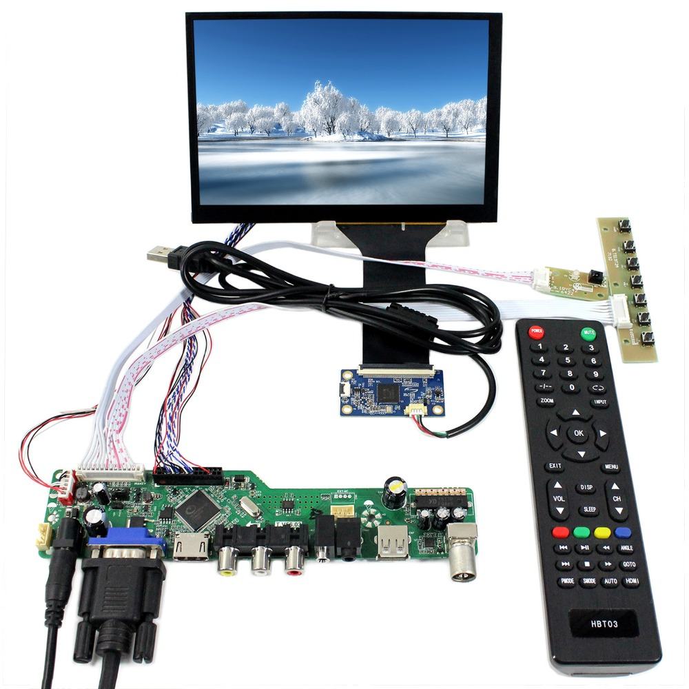 TV HDMI VGA AV USB LCD Driver Board With 7inch 1280x800 N070ICG-LD1 Capacitive Touch Panel hdmi vga 2av lcd driver board vs ty2662 v1 71280 800 n070icg ld1 ld4 touch panel