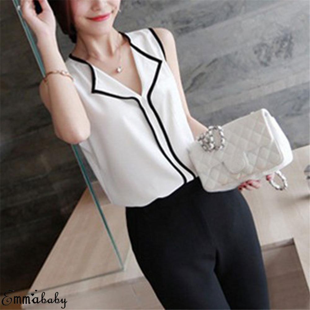 Women Blouses 2019 Fashion Long Sleeve Turn Down Collar Office Shirt Chiffon Blouse Shirt Casual Tops Plus Size Blusas Femininas 9