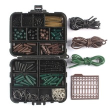 Mounchain 187pcs Carp Fishing Tackle Set/Kit Safety Lead Clips Swivels Outdoor Hooks Accessories Box Swinger