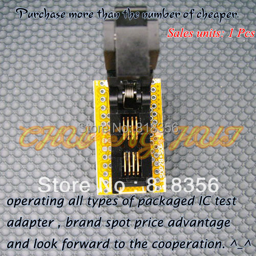 SOP8-DIP8 Programmer Adapter SOIC8/SO8/FP8 to DIP8 Adapter/IC SOCKET/IC Test Socket (208-7391 Flip test seat) бесплатная доставка diy электронные tps54331drg4 ic reg бак adj 3а 8 soic 54331 tps54331 3 шт
