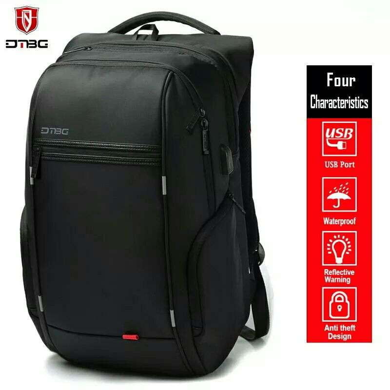 "Dtbg Backpacks 15""17"" Laptop Backpack Leisure Bag Anti-theft Waterproof Traveling Mochilas Men Women Bag & External Usb Charging #1"