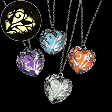 Luminescence Hollow Heart Pendant Necklace Fashion Jewelry LOVE Collares Geometric Charm Necklaces Bijoux De Moda 2019