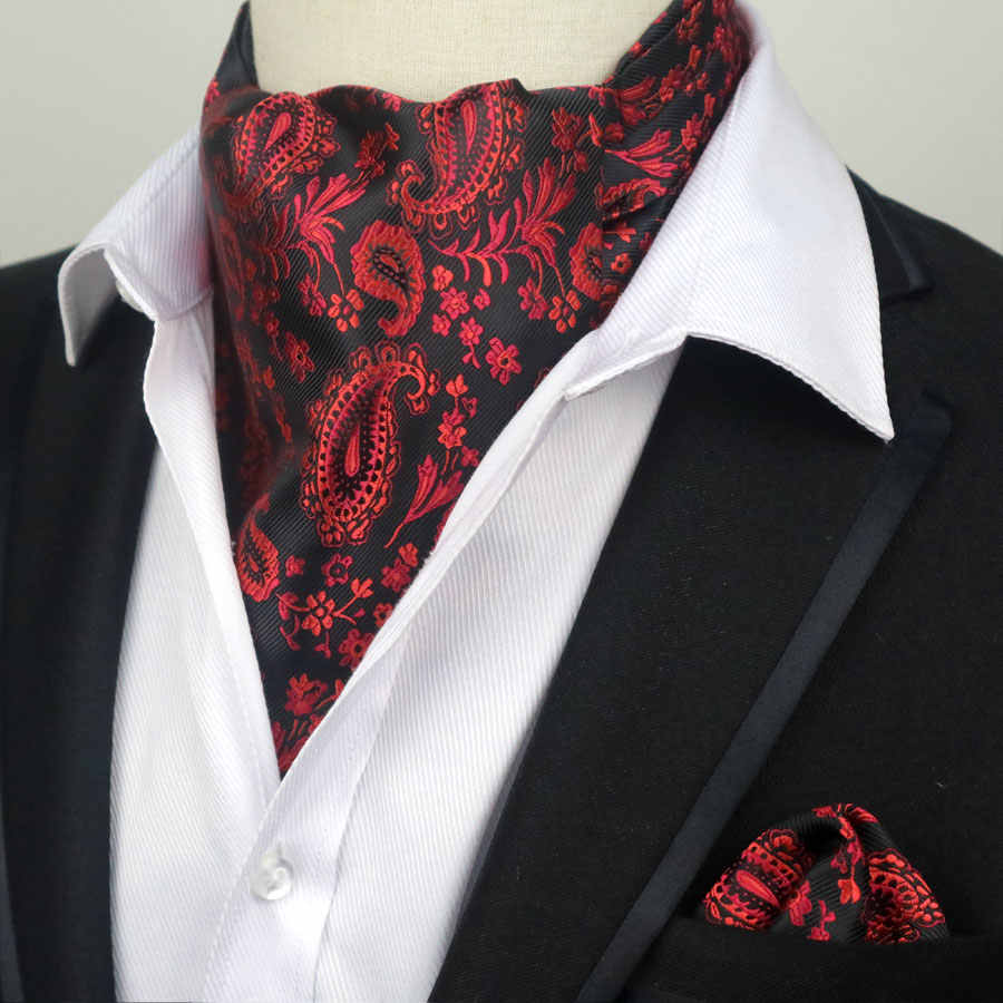 76d0ccc35462 ... 67 Color Men Luxury Silk Ascot Tie set Man Cravat Ties Handkerchief Set  Floral Paisley Dots ...