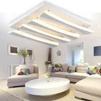 Luces de techo creativas de diseñador lámpara de techo de acrílico lámpara de dormitorio minimalista lustre luminaria iluminación del hogar 110-240 V