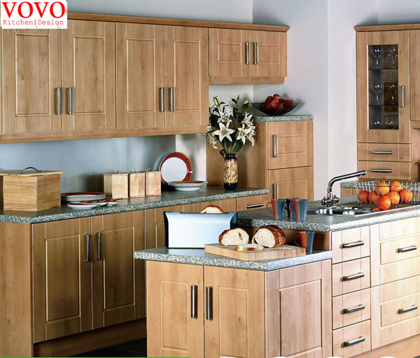 Solid Kitchen Cabinets: Birch Solid Wood Kitchen Cabinet-in Kitchen Cabinets From