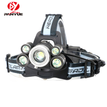 PANYUE High Power LED Headlamp 6000 Lumen Waterproof USB Rechargeable Zoomable Headlight Head Lamp with SOS Whistle panyue super bright 50w 20000lm 7 xml t6 2 r2 led headlamp usb rechargeable head lamp led headlight with sos whistle