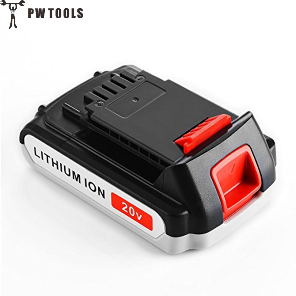PW TOOL 20V 2000mAh Rechargeable Lithium Battery Large Capacity Long Life Fast Charge Replace Battery for Power Tool Accessories pw tool 19v 2000mah ni cd battery rechargeable large capacity long life fast charge replace battery for power tool accessories