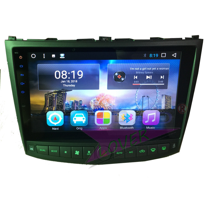 TOPNAVI Android 8.1 Octa Core Car Automagnitol Player For Lexus IS250 IS300 2005 2011 Stereo GPS Navigation 2 Din Radio NO DVD