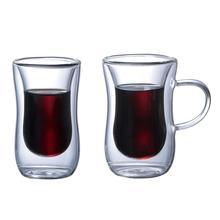 Инновационные, двойные стеновые изолированные стеклянные чашки термостойкие для чая кофе латте эспрессо льдом чай посудомоечная машина кружки
