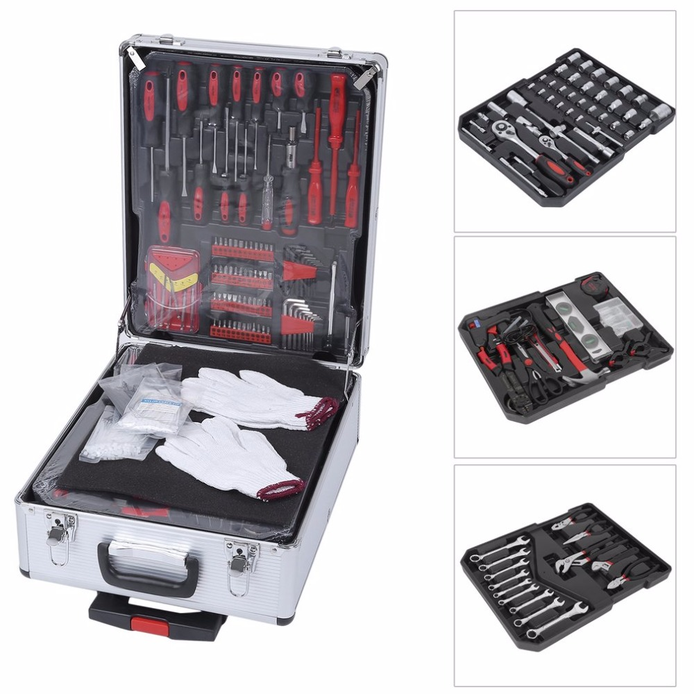 Helpful 629pcs/set Mechanic Set With Alloy Trolley Case Auto Home Repair Combination Premium Carbon Steel Tool Kit Hand Tools