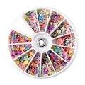 1200 Pçs/caixa Telefone Beleza Do Prego Ferramentas de Arte Japonês Manicure DIY Nail Tiras Do Prego da jóia Pérola Fimo Mista para Gel Unha Polonês 8 cm