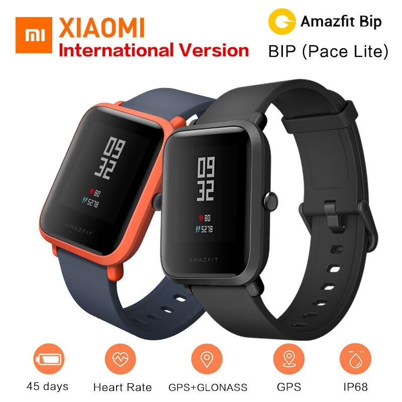 Xiaomi Amazfit Bip reloj inteligente [versión en inglés] Huami ritmo Lite GPS Smartwatch hombres pulsómetro 45 días batería vida IP68
