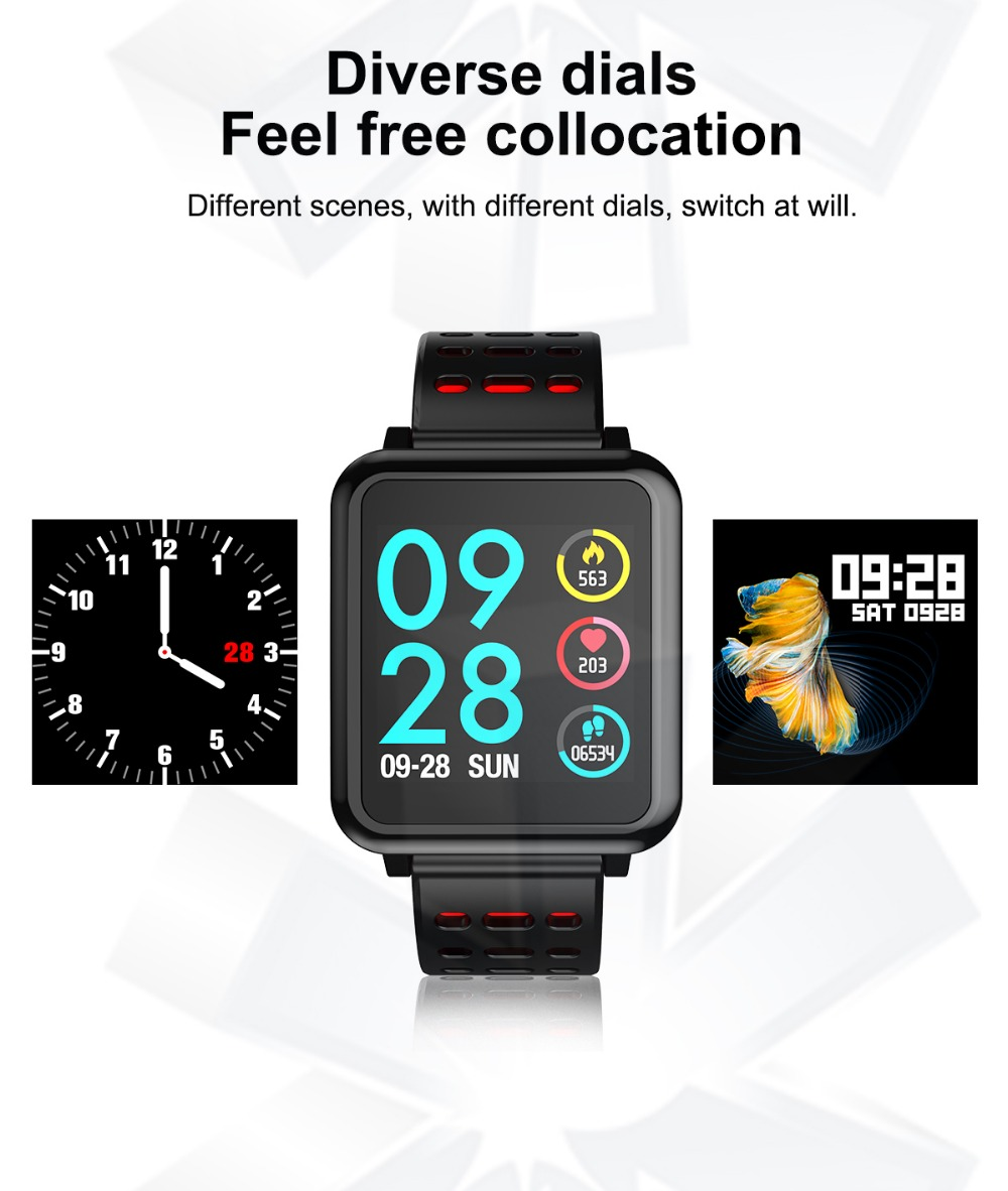 T2 Smartwatch IP67 Waterproof Wearable Device Bluetooth Pedometer Heart Rate Monitor Color Display Smart Watch For AndroidIOS (4)