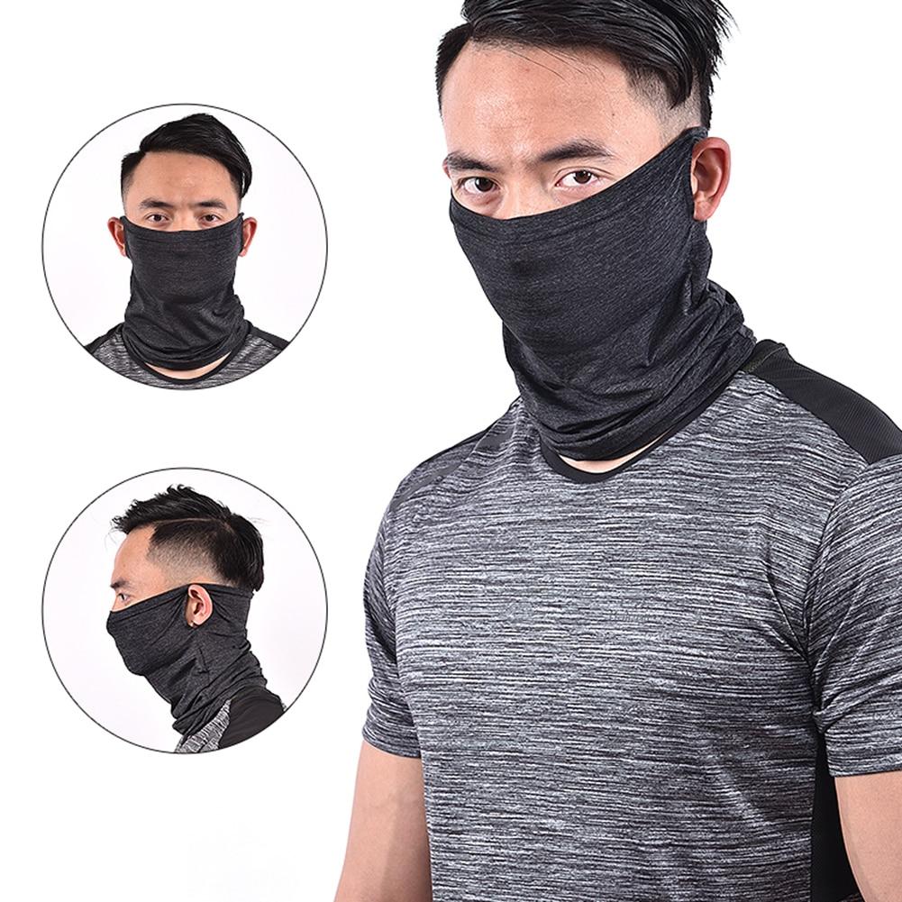 Summer Cycling Mask Breathable Outdoor Sports Facemask Ice Silk Bandana Hanging Ear Mask Anti-UV Running Training Face Mask