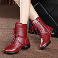 Women Winter Boots Genuine Leather Fashion Zapatos Mujer Ankle Boots for Girls Pointed Toe Femal Snow Boots Donna Martin Boots