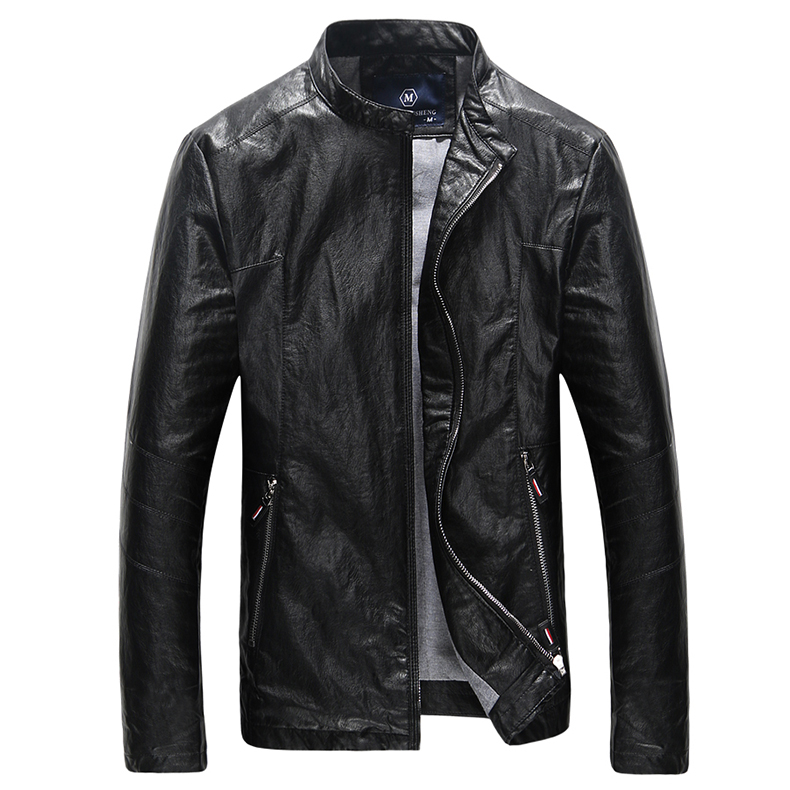 Mens Motorcycle Jackets Chaqueta Hombre Boys PU <font><b>Leather</b></font> Jackets M-4XL Plus Size Slim Fit Casual Fashion <font><b>Top</b></font> Quality 2016 Autumn