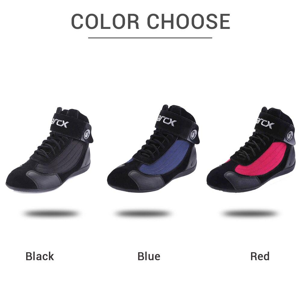 ARCX Moto bottes hommes Moto bottes d'équitation été respirant Moto chaussures Moto Chopper Cruiser Touring cheville chaussures # - 4
