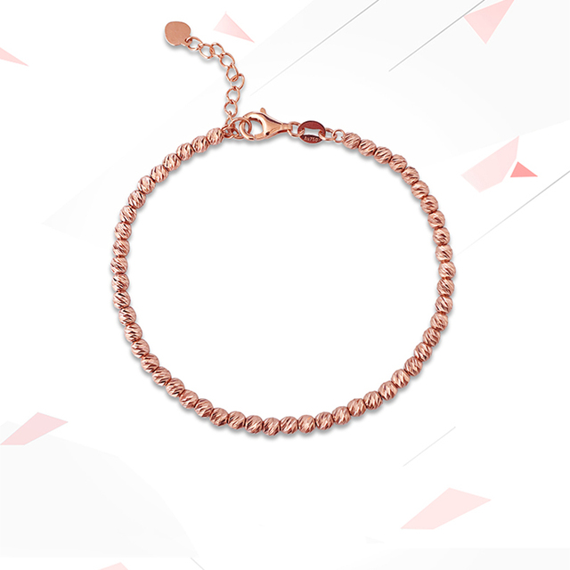 Gold Laser Beads Strands Bracelet 4