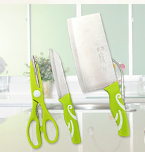 Stainless Steel cutting tool 3 pieces set kitchen knife kitchen scissors fruit knife