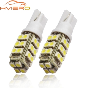 2X T10 White Red Blue 28LED W5W Car Side Wide Wedge Tail Light Door Lights License Plate Lights Trunk Lamp Car Led Reading Light