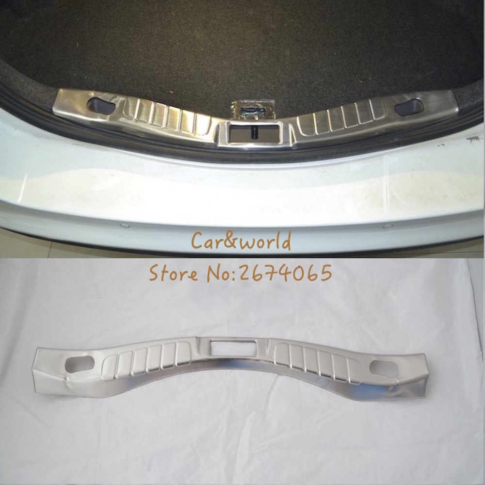 For Ford Mondeo/Fusion 2013 Interior Rear Bumper Protector Tail Door Sill Pedal Cover Trim 2014 2015 Car Accessories стоимость