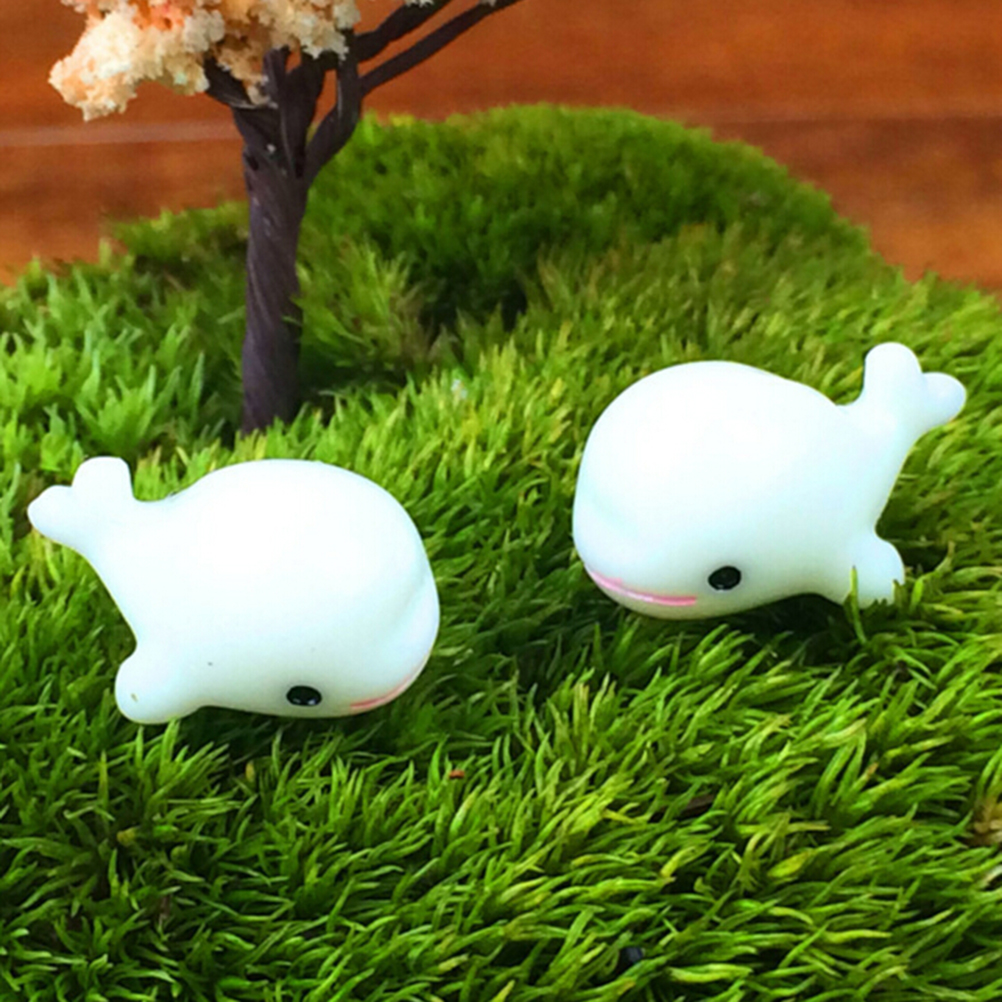 Kawaii White Dolphin Animal Miniatures Fairy Garden Gnome Moss ...