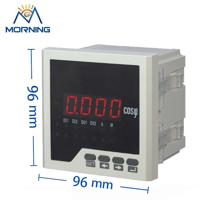 3H31 96*96mm LED display 3-phase digital power factor meter AC 1A 5A support RS-485 and Modbus-RTU protocol me 3h61 72 72mm led display 3 phase digital power factor meter support switch input and transmitting output