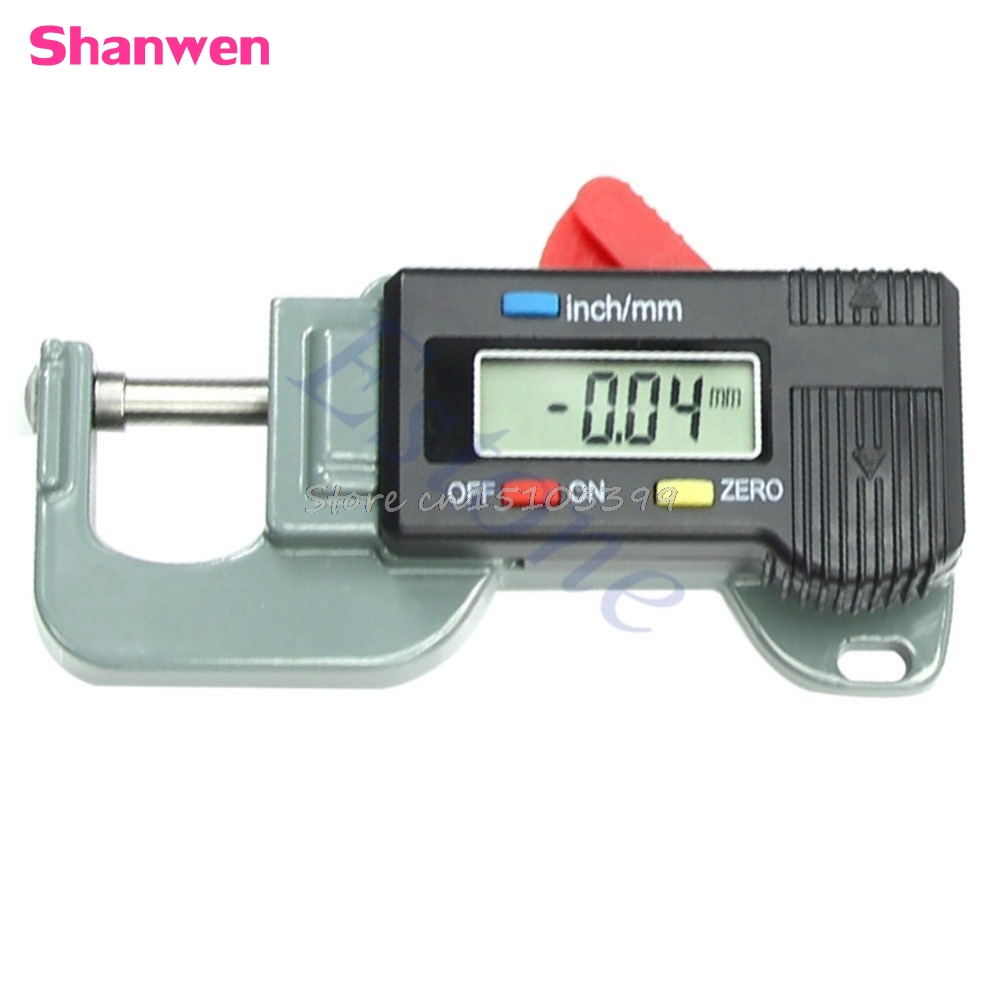 Portable Precise Digital Thickness Gauge Meter Tester Micrometer 0 to 12.7mm G08 Drop ship