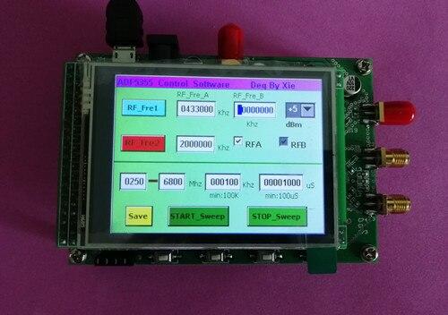 ADF5355 Module écran couleur tactile balayé fréquence RF Source de Signal VCO micro-onde fréquence synthétiseur PLL