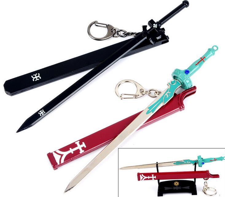 Sword Art Online SAO Kirigaya Kazuto Kirito Yuki Asuna Sword Blade Keychain Key Ring Key Chains кавахара р sword art online айнкрад 002