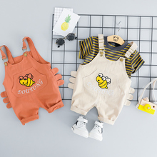цена на ZWXLHH 2019 Summer Baby Boys Clothing Sets Infant Toddler Clothes Suits Cartoon Bee  T Shirt Shorts Kids Children Short  Suit