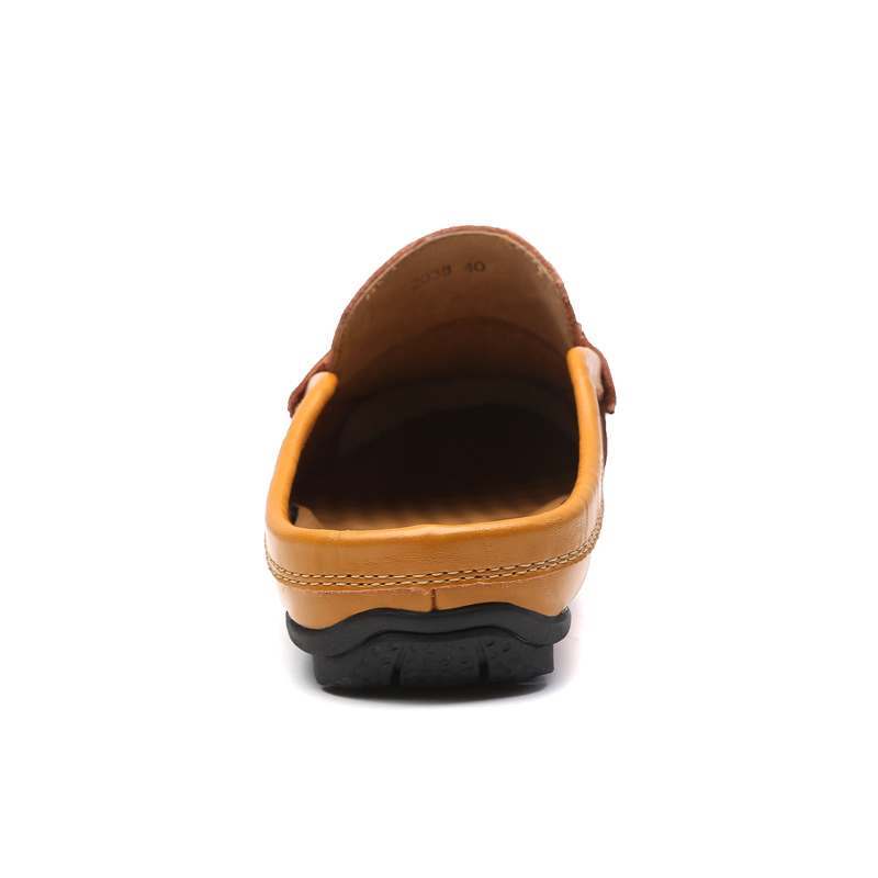 CLAX Men's Leather Slipper 2018 Spring Summer Fashion Pria Sepatu - Sepatu Pria - Foto 5