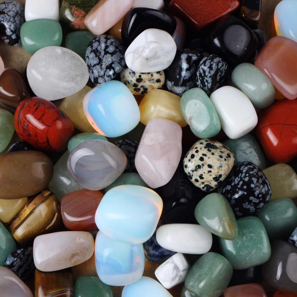 Assorted Natural tumbled stone Crystal Quartz Aventurine obsidian Decoration Crafts Points Beads Home Decor Chakra Healing Reiki