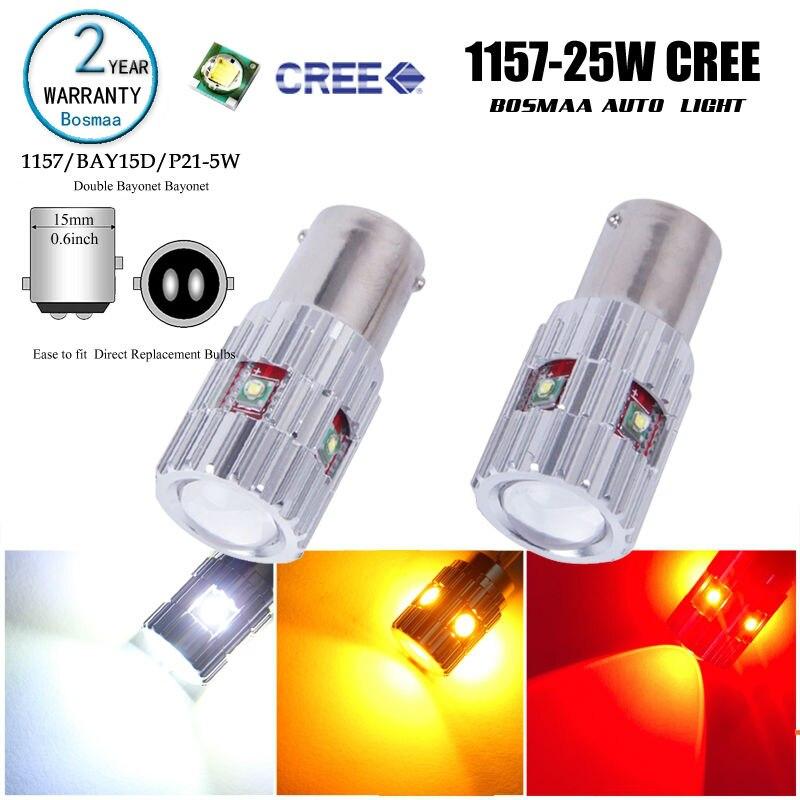 BAY15D 1157 2PCS 25W Led High Power with chips Backup Reverse Brake Turn Signal Blinker LED Light Bulbs