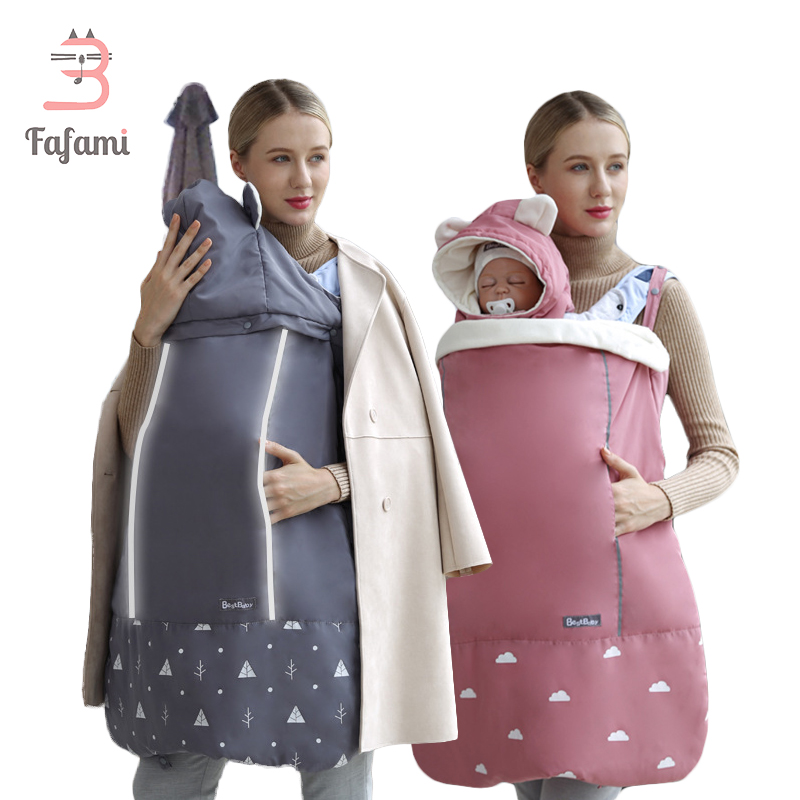 Ergonomic Baby Carrier Cover Baby Strap Cloak Winter Baby Carrier Sling Outdoor Windproof Cloak Cape Hooded Infant Backpacks