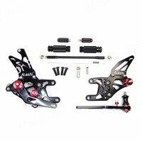 Adjustable Footrests For Honda CBR1000RR 2008 2011 Foot Rest Peg Rearsets Pedal CBR 1000 RR CBR1000 1000RR Black 2009 2010 11