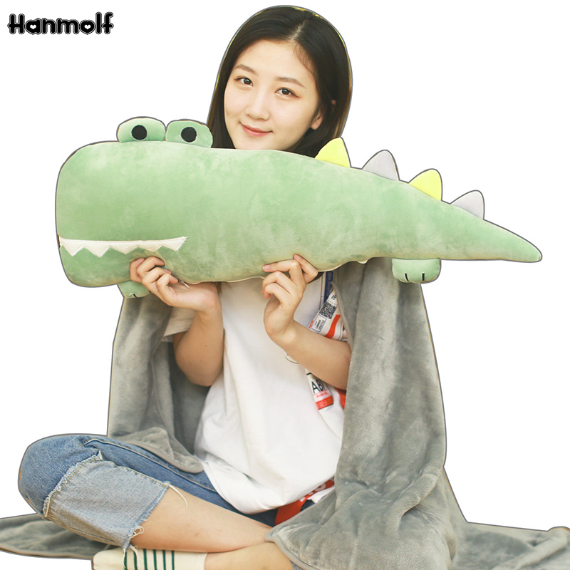 Cartoon Krokodil Lange Kissen Plüsch Alligator Tiere Bolster Kissen Kinder Huggable Begleiter Plüsch Kissen 55/70 Cm Diversifiziert In Der Verpackung Plüschkissen Stofftiere & Plüsch