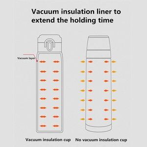 Image 5 - Viomi portátil vácuo garrafa térmica 300ml/460ml material de liga leve 24 horas garrafa térmica única mão em/fechar