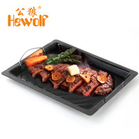 Hewolf Outdoor Non Stick Barbecue Plate Cooking Fried Pan Dish Easy Clean Camping Picnic Portable BBQ