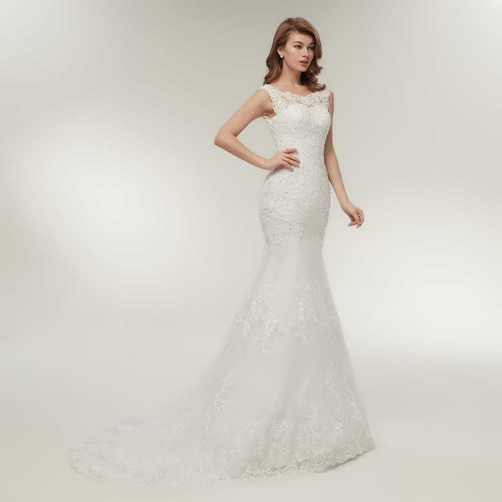 68f51e056b2da ... Fansmile New Arrival Lace Mermaid Wedding Dresses 2019 Plus Size Bridal  Alibaba Wedding Gowns Real Photo ...