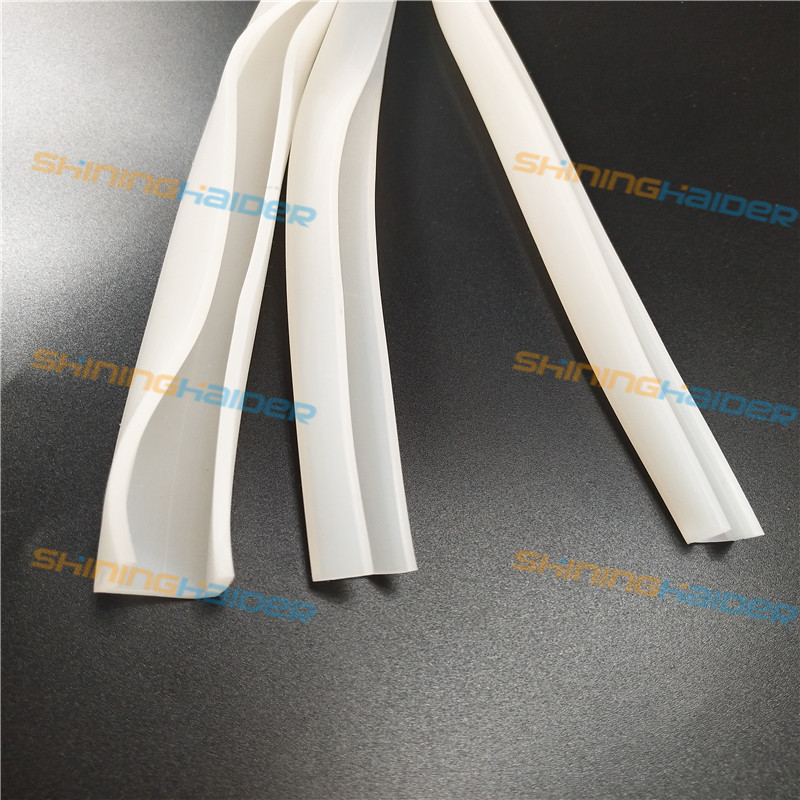 White Silicone rubber U type strip white high temperature resistance silicone seal strip glass door sealing