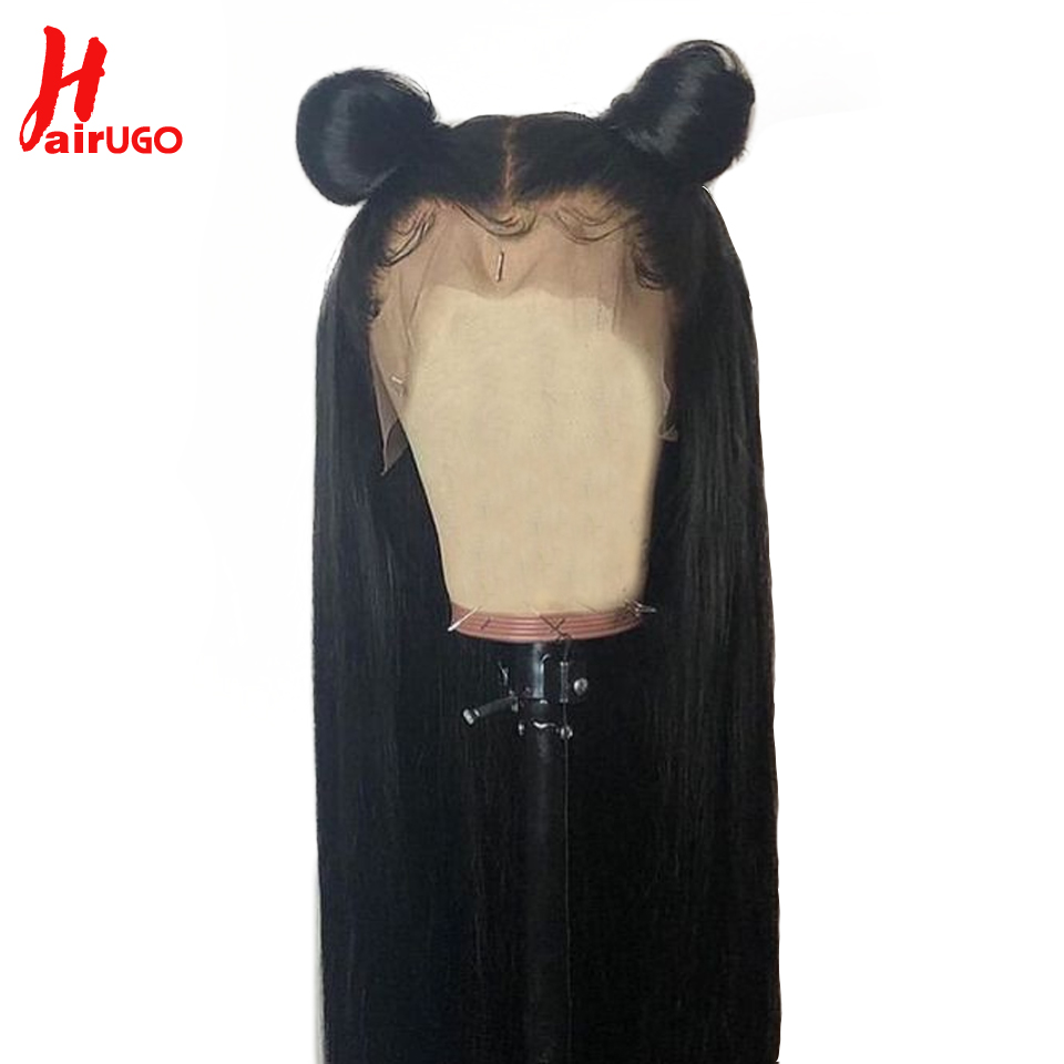 Brazilian Hair 360 Lace Frontal Wig Straight Wigs Lace Frontal Human Hair Wigs For Black Women HairUGo Non Remy Human Hair Wigs