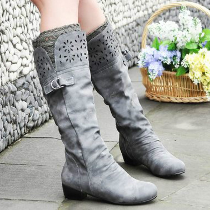 Womens Flat Mid-calf Boots Black Short Boots Women Plus Size 35 - 43 Faux Suede Slim Boots Lace Deco ShoesWomens Flat Mid-calf Boots Black Short Boots Women Plus Size 35 - 43 Faux Suede Slim Boots Lace Deco Shoes