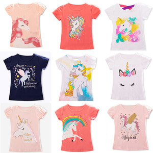 Kids Girl T Shirt Summer Baby Boy Cotton Tops Toddler Tees Clothes Children Clothing Unicorn T-shirts Short Sleeve Casual Wear(China)