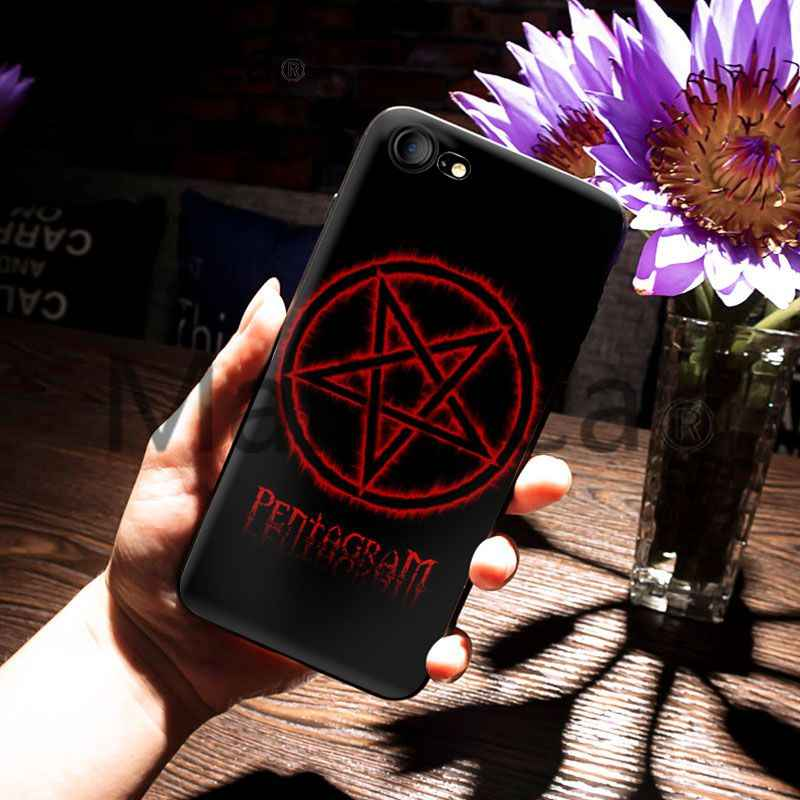 MaiYaCa For iphone 7 Case Pentagram Satanic Pentagram Design Soft Phone Case for iPhone 7 6 X Case 6S 6plus 7 7plus 8 8Plus X 5