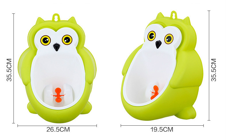 Baby boy Urinal Pee Frog and Owl baby toilet training Colored Children Potty Baby Urine Groove PP hooked Urinal for kids (12)