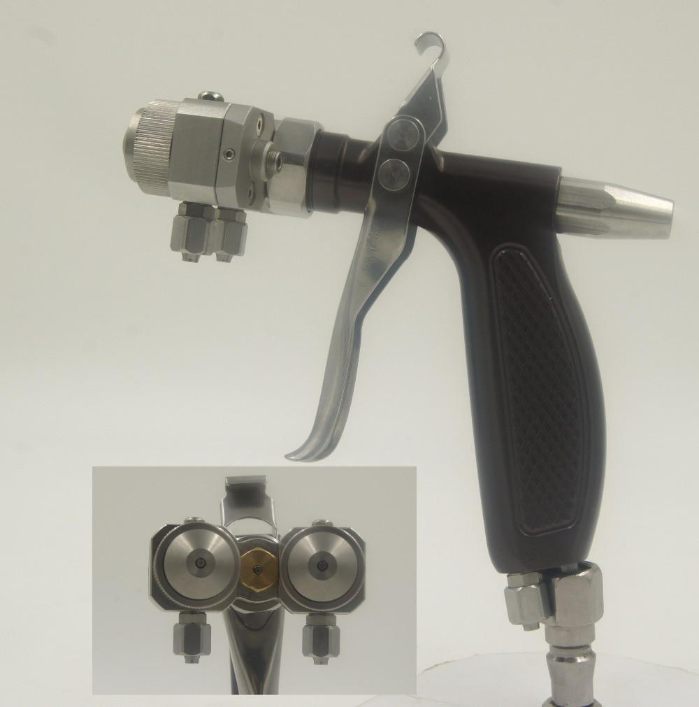 SAT1204 lucht autolakspuit hogedruk pneumatisch verfpistool dubbele spuitmond autolakpistool