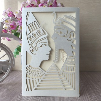 35pcs New India Style Wedding Party Invitation Card Romantic Decorative Cards Delicate Carved Pattern Birthday Invitation