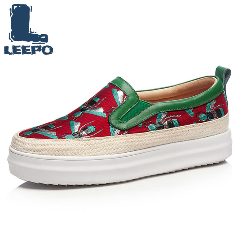 LEEPO Spring Flat Platform Loafers Shoes Woman Silk Embroider Luxury Round Toe Platform Shoes Ladies Autumn Soft Loafers Women 4LEEPO Spring Flat Platform Loafers Shoes Woman Silk Embroider Luxury Round Toe Platform Shoes Ladies Autumn Soft Loafers Women 4